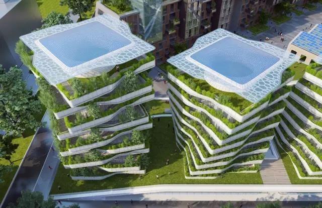 垂直森林城市住宅,每一层都有一个私家花园